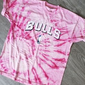 Chicago Bulls Tshirt bleached tie dyed reverse